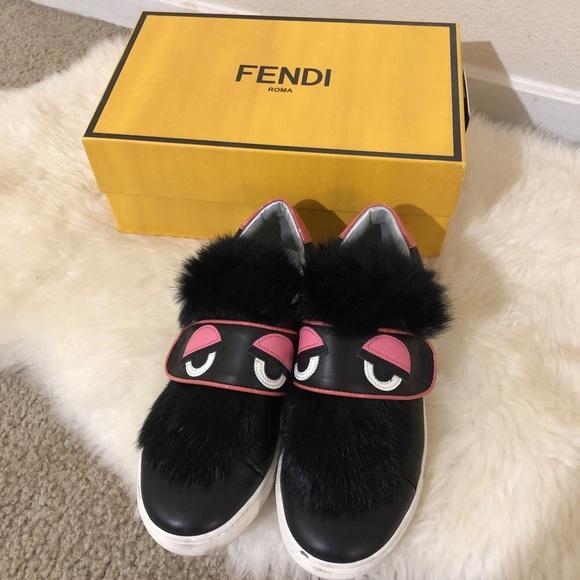 fendi monster sneakers womens